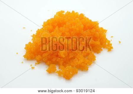 Orange tobiko, shrimp egg, flying fish caviar, roe