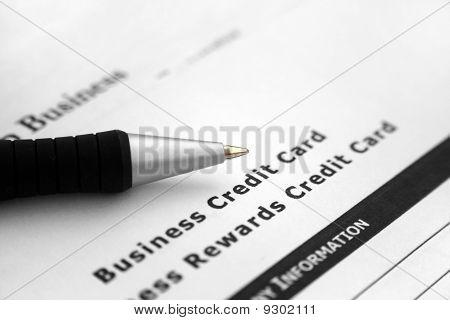 Aplicação do cartão de crédito