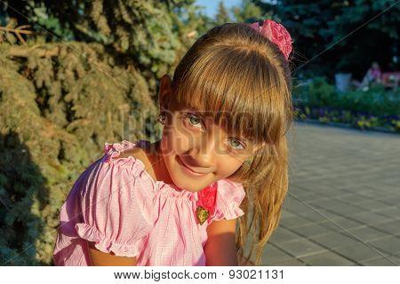 Portrait Of Green-eyed Girl