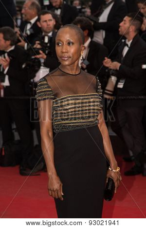 Malian singer-songwriter Rokia Traore, 'Irrational Man' premiere during the 68th annual Cannes Film Festival on May 15, 2015 in Cannes, France.