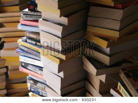 Piled Books 4