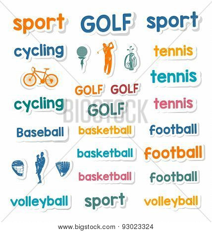 Set Of Icons And Stickers Sports Games