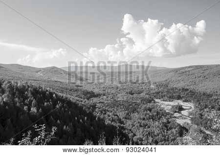 Black And White Photo Holdomi, Bags Of Treasure, Russia, The Far East, Raspadok