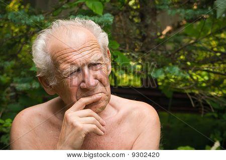 Thinking Senior Man