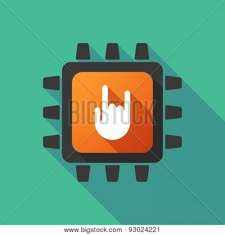 Cpu Icon With A Hand