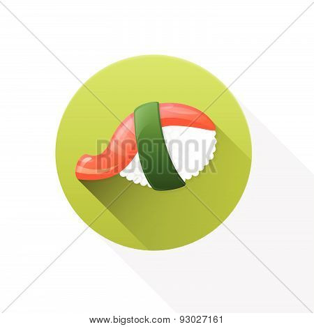 Nigiri flat icon on white background.