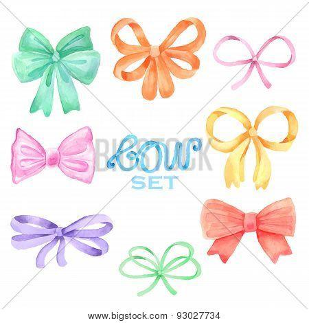 Watercolor bow set