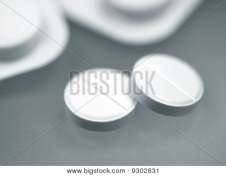 Medical Tablets close-up