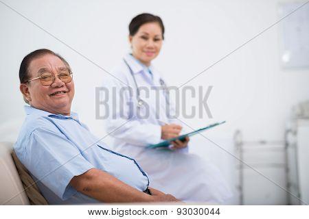 Happy senior patient