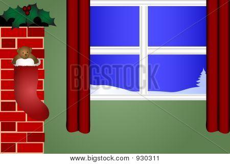 Lareira e janela gráfica