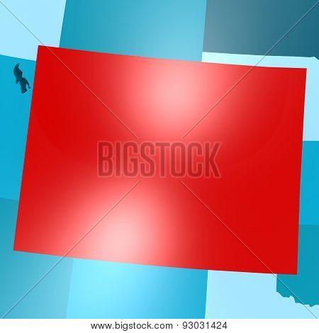 Colorado Map On Blue Usa Map