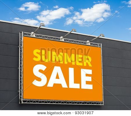 Summer Sale Written On A Billboard