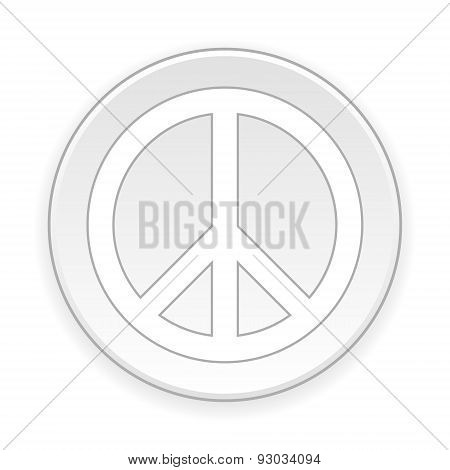 Peace Symbol Button.