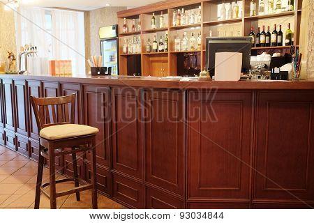 Interior of a bar or restaurant