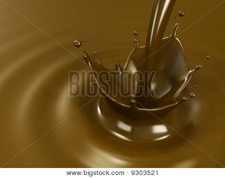 Pouring hot chocolate or cocoa
