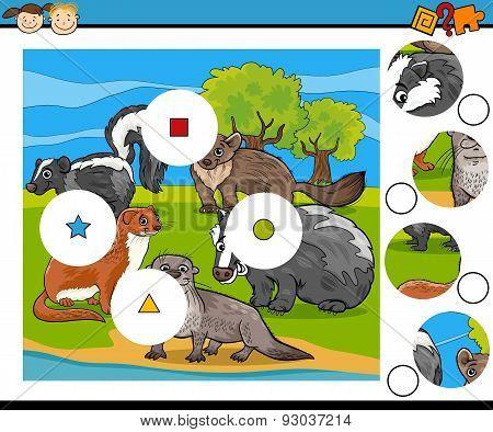 Education Game with Marsupial Animals