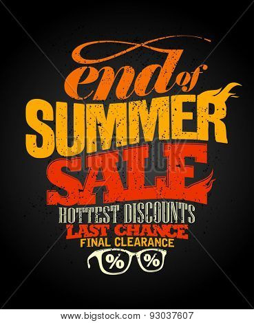 End of summer sale design, final clearance.