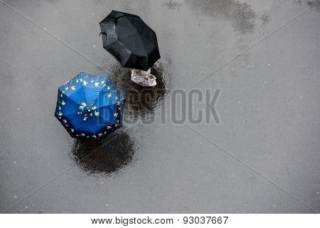 People with Umbrella.