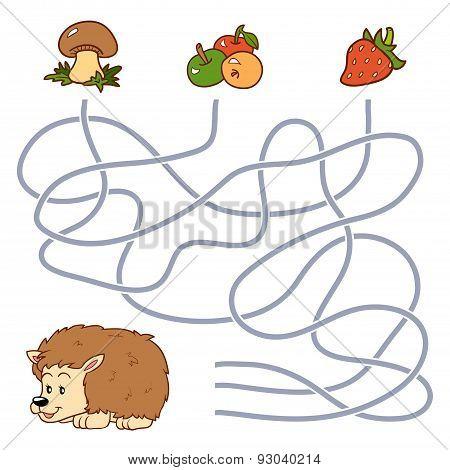 Maze Game (hedgehog And Food)