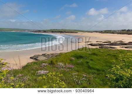 Harlyn Bay North Cornwall England UK near Padstow and Newquay and on the South West Coast Path