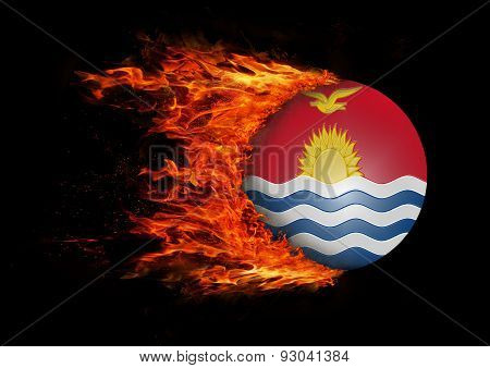Flag With A Trail Of Fire - Kiribati