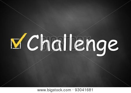 chalkboard with checkbox checked challenge