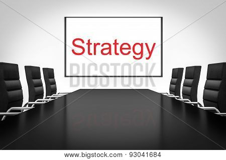 Conference Room With Whiteboard Strategy