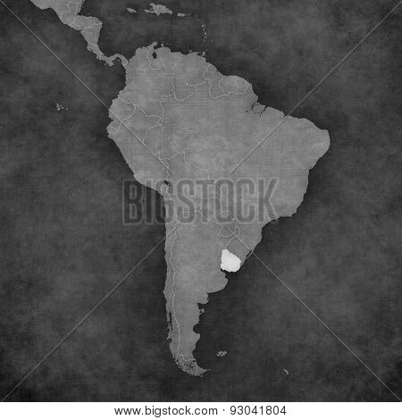 Map Of South America - Uruguay