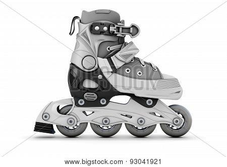 Gray Roller Skate Side View
