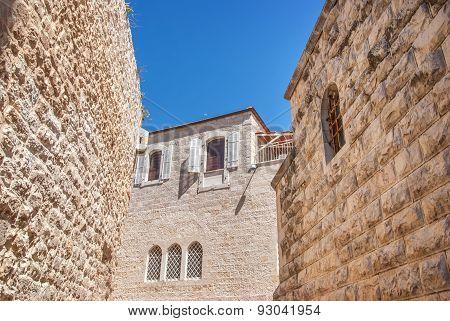 Ancient Houses In Jewish Quarter, Jerusalem