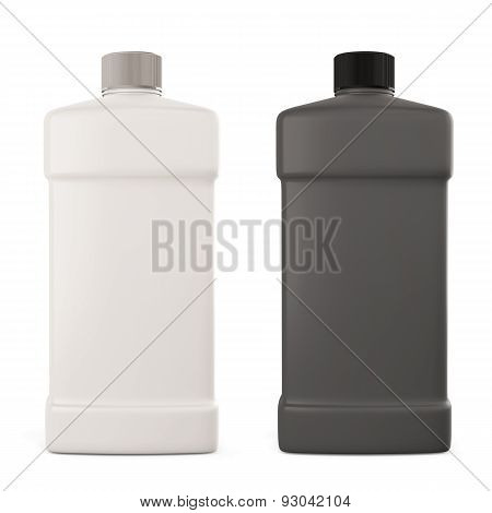 White And Black Bottle With Detergent
