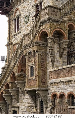 Architectural Detail Of A Building In Genoa