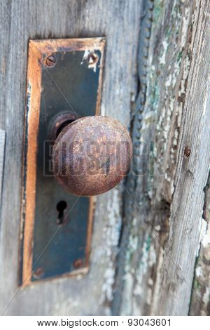 A Rusted Door Knob