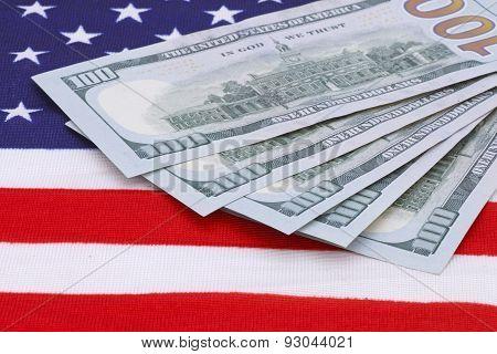 money On Usa Flag