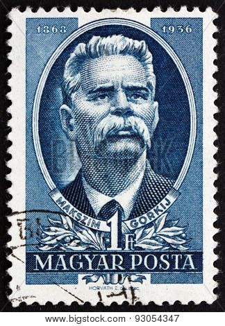 Postage Stamp Hungary 1951 Maxim Gorky, Russian Writer