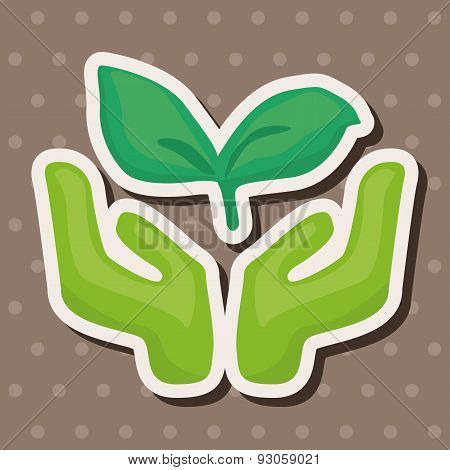 Environmental Protection Concept Theme Elements; Protect Our Forests And Ecological Plant