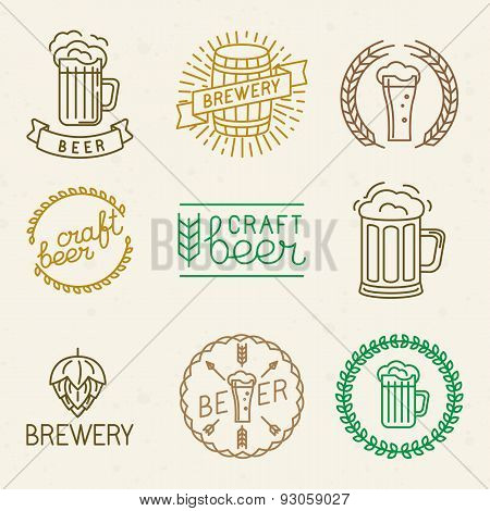 Vector Craft Beer And Brewery Logos