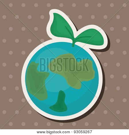 Environmental Protection Concept Theme Elements; Protect Our Environment, Protect Our Planet