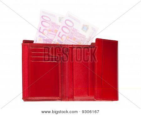 Brieftasche mit verschwindenden Euro