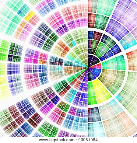 Composition of abstract radial grid
