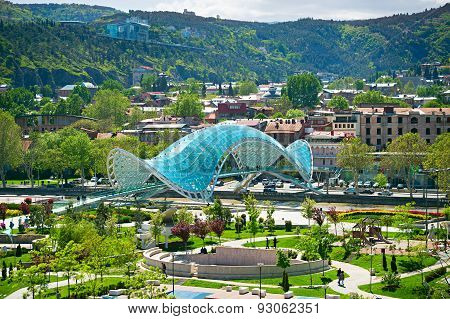 Peace Bridge, Tbilisi, Georgia