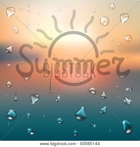Summer Typography Background