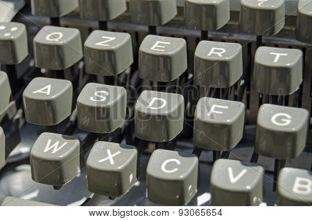 Typewriter keys detail