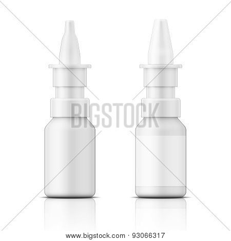 White plastic nasal spray bottle.
