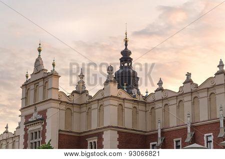 Cloth Hall (Sukiennice) in Krakow.
