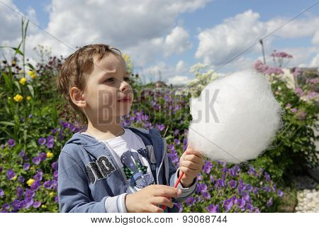 Kid With Cotton Candy