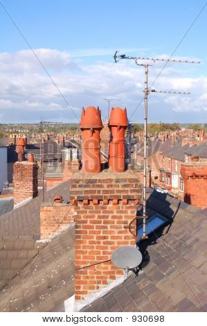 Chimney Stack Over The Rooftops