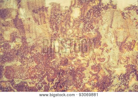 Iron surface rust background ( Filtered image processed vintage effect. )