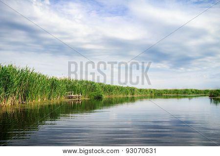 River Landscape On A Summer Day