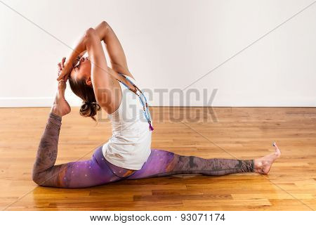 Female Yoga Hanuman Variation Splits Pose Thigh Stretch